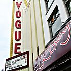Vogue Theatre Marquee © by Ethna Gillespie