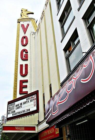 Vogue Theatre Marquee © by Ethna Gillespie