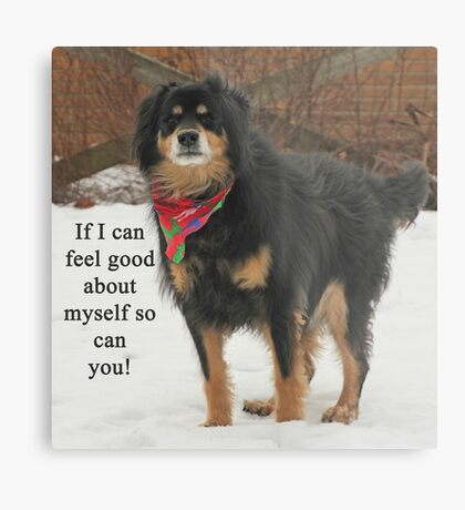 If I can feel good about myself so can you. Metal Print