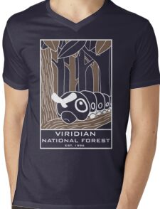 Viridian National Forest Mens V-Neck T-Shirt
