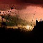 Kilchurn Castle at sunset by Islandsimages