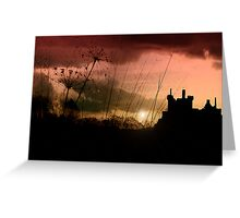Kilchurn Castle at sunset Greeting Card
