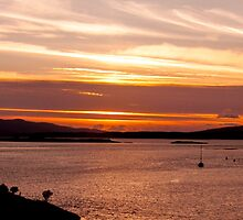 A summer sunset from Connel Bridge, Argyll by Islandsimages