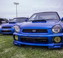 Three Generations of World Rally Blue by rawephotography
