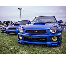 Three Generations of World Rally Blue Photographic Print