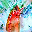 jumping trout by samos