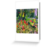 Flower cactus Greeting Card