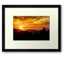A beautiful Big Sur sunrise Framed Print