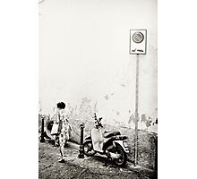 Italy moped Photographic Print