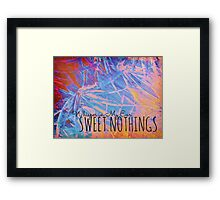 SWEET NOTHINGSBeautiful Midnight Valentine Florals, Eggplant Lilac Pink Modern Abstract Framed Print
