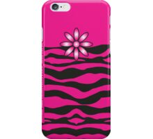 The Katy Phone / Black & Fuchsia Fantasy Zebra iPhone Case/Skin
