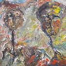 Couple Walking in the Countryside. by Tim  Duncan