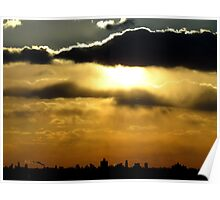 Sunset silhouette, NYC Poster