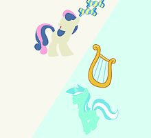 Lyra & BonBon iPhone/iPad Case by TehCrimzonColt