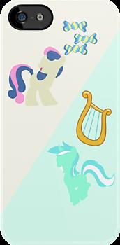 Lyra & BonBon iPhone/iPad Case by TehCrimzonColt