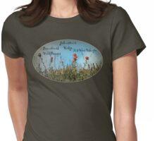 Paintbrush wildflowers, Johnston's Ridge oval Womens Fitted T-Shirt