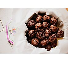 chocolate cookies Photographic Print