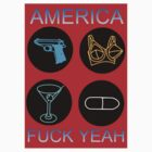 America, F**k Yeah (smaller print version) by Keith Farris