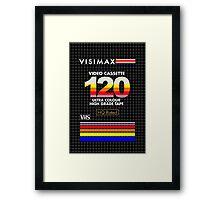 Blank VHS Cover Framed Print