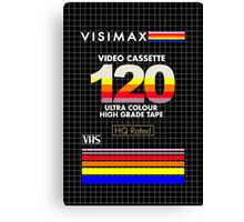 Blank VHS Cover Canvas Print