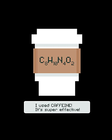 Caffeine is Super Effective by fishbiscuit