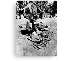 (Poor Thing) Snake Charmer. Canvas Print