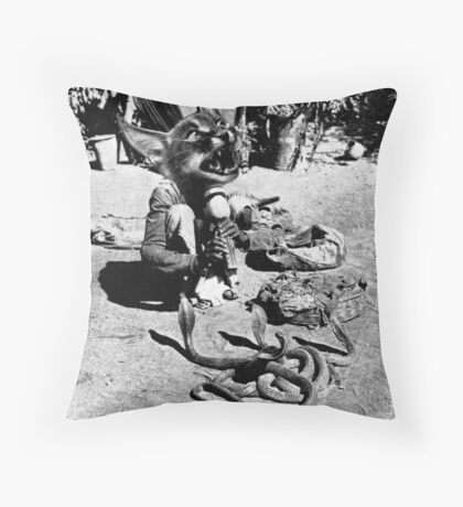 (Poor Thing) Snake Charmer. Throw Pillow