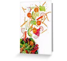 tossed salad.. Greeting Card