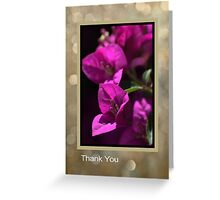 Thank You - Bougainvillea Flowers Greeting Card