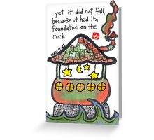 Founded on The Rock Greeting Card