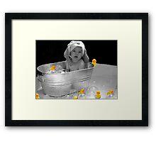 BATH TIME Framed Print