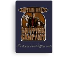 Captain Mal's Shipping Company Canvas Print