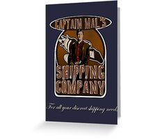 Captain Mal's Shipping Company Greeting Card