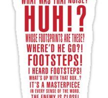 MGS Alert Typography Sticker