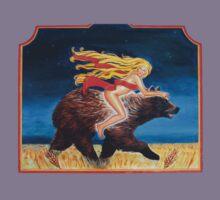 Naked Chick Riding a Bear by AshleyBell