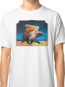 Naked Chick Riding a Bear Classic T-Shirt