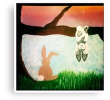 Playful bunnies Canvas Print