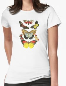Vintage Butterfly Collection Womens Fitted T-Shirt
