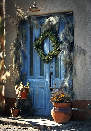 Blue Door ~ Elysian Market Door by Lucinda Walter