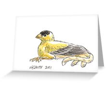 Sketch -- Mythological House Griffin: Goldfinch Variety Greeting Card