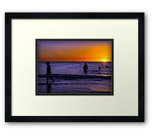 Warm Sun..Cool Sea... Framed Print