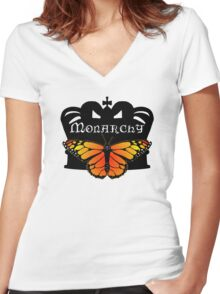 Monarchy Women's Fitted V-Neck T-Shirt