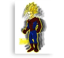 Spider Gohan Golden font Reflentions Canvas Print