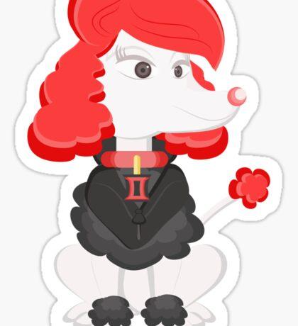 Poodle Black Widow by Centtaro Sticker