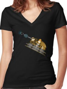 Born to Exterminate! Women's Fitted V-Neck T-Shirt