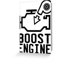 Boost engine check engine light Greeting Card