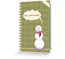 Snowman Stationary Greeting Card