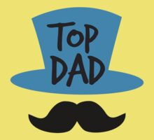 Top dad Father with top hat and moustache by jazzydevil