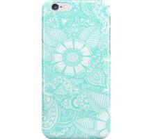 Turquoise Henna Design - Iphone Case  iPhone Case/Skin