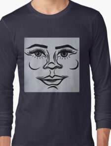 Clean, modern portrait Long Sleeve T-Shirt